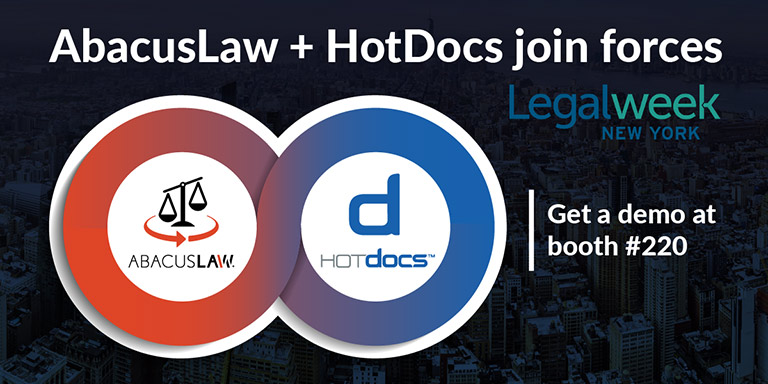 AbacusLaw HotDocs integration preview at Legalweek 2020