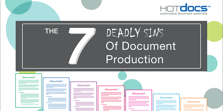 7 sins of document production